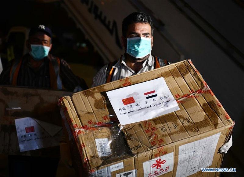Don de la Chine de 2.016 kits de test à la Syrie pour l'aider à lutter contre le nouveau coronavirus (Xinhua/Ammar Safarjalani)