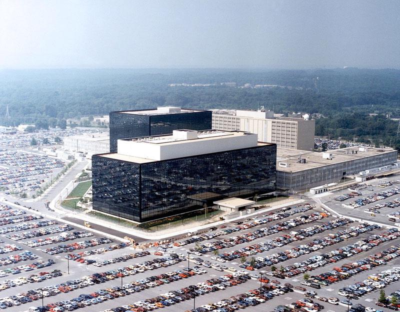 Quartier général de la NSA à Fort George G. Meade, Maryland (Source : Wikimedia Commons)