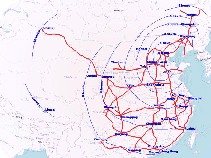 La Chine est le pays qui possède le réseau ferroviaire à grande vitesse le plus développé au monde.